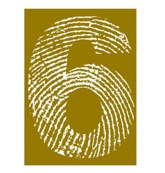 Fingerprint Alphabet No 6 vector