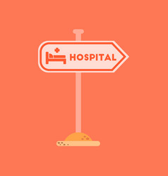 flat icon on background hospital sign vector image