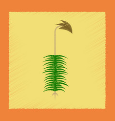 Flat shading style icon nature plant polytrichum vector