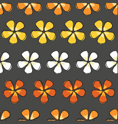 flower drama colorful blossoms on a gray vector image
