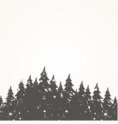 forest landscape2 vector image