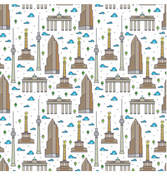 germany berlin landscape seamless pattern vector image