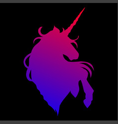graphic unicorn silhouette vector image