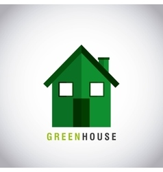 Green house ecology icon vector
