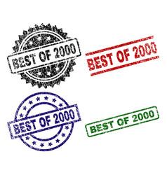 Grunge textured best of 2000 stamp seals vector