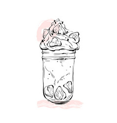 hand drawn graphic monstershake milkshake vector image