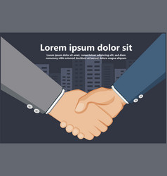 Hand shake joint business contract agreement vector