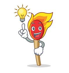 Have an idea match stick mascot cartoon vector