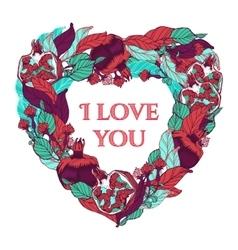 Heart form wreath vector