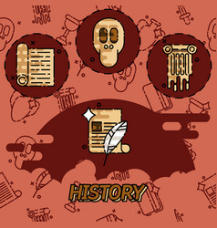 history and culture icons vector image
