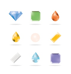 Icon 9gems vector image