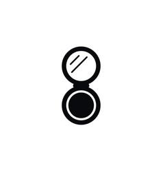 isolated hand-mirror icon peeper element vector image