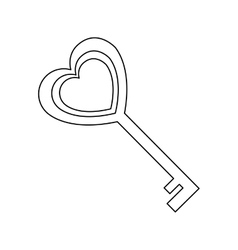 key in heart shape vector image