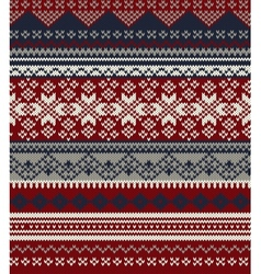 Knitted background in Fair Isle style in three vector image