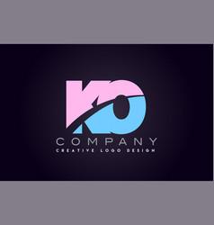 Ko alphabet letter join joined letter logo design vector