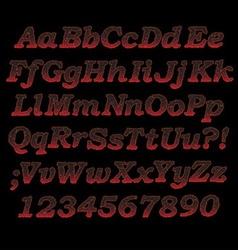 lava font vector image