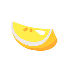 lemon piece issolated on white vector image
