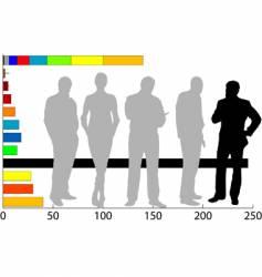 marketing team vector image vector image