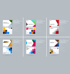 Material design style presentation template with vector