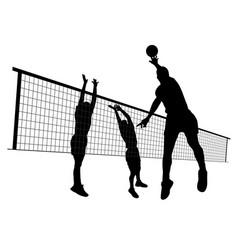Men volleyball match vector