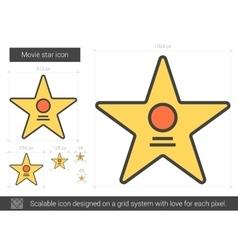 Movie star line icon vector