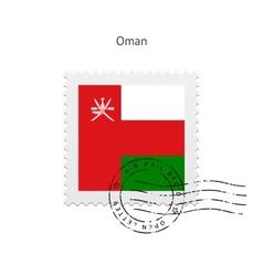 Oman Flag Postage Stamp vector