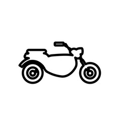 Outlined motorcycle transport motor adventure vector