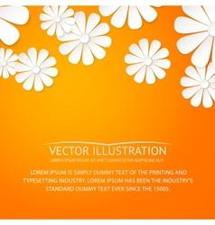 Paper flower postcard vector