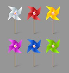Paper pinwheels vector