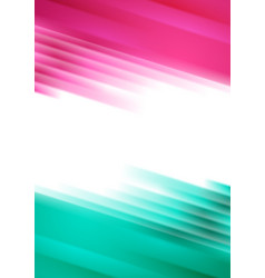 Pink and turquoise glowing stripes abstract vector