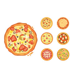 Popular pizza italian cook and pizzas delivery vector