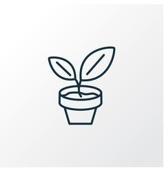 pot plant icon line symbol premium quality vector image