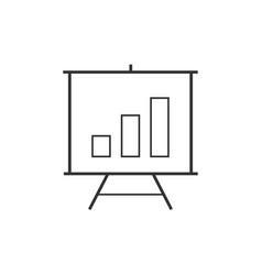 presentation board outline icon vector image