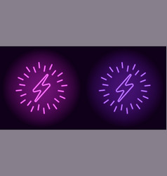 Purple and violet neon electric sign vector