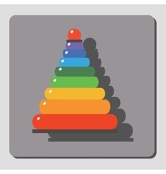 Pyramid for children vector image