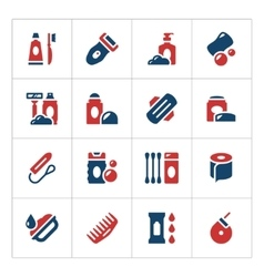 Set color icons of hygiene vector image