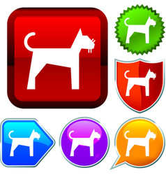 Set shiny icon series on buttons cat vector