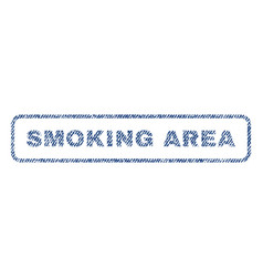 Smoking area textile stamp vector