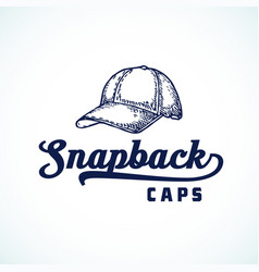 Snapback caps abstract sign symbol or logo vector
