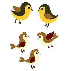 Sparrows and Tomtits vector