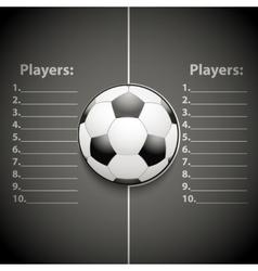 Statistics template football vector