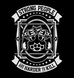 strong people are vector image