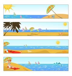 summer holidays vector image
