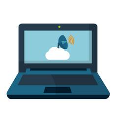 Technology computing cartoon vector