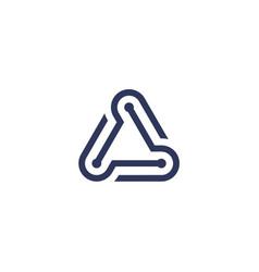technology logo template vector image