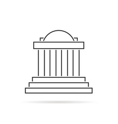 thin line greek colonnade with shadow vector image