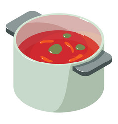 Tomato soup icon isometric 3d style vector