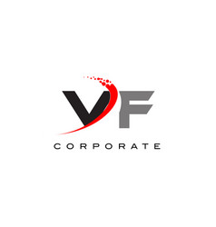 vf modern letter logo design with swoosh vector image