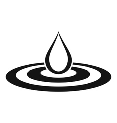 Water drop and spill icon simple style vector image