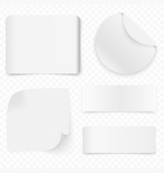 white realistic sale paper banners or stickers vector image